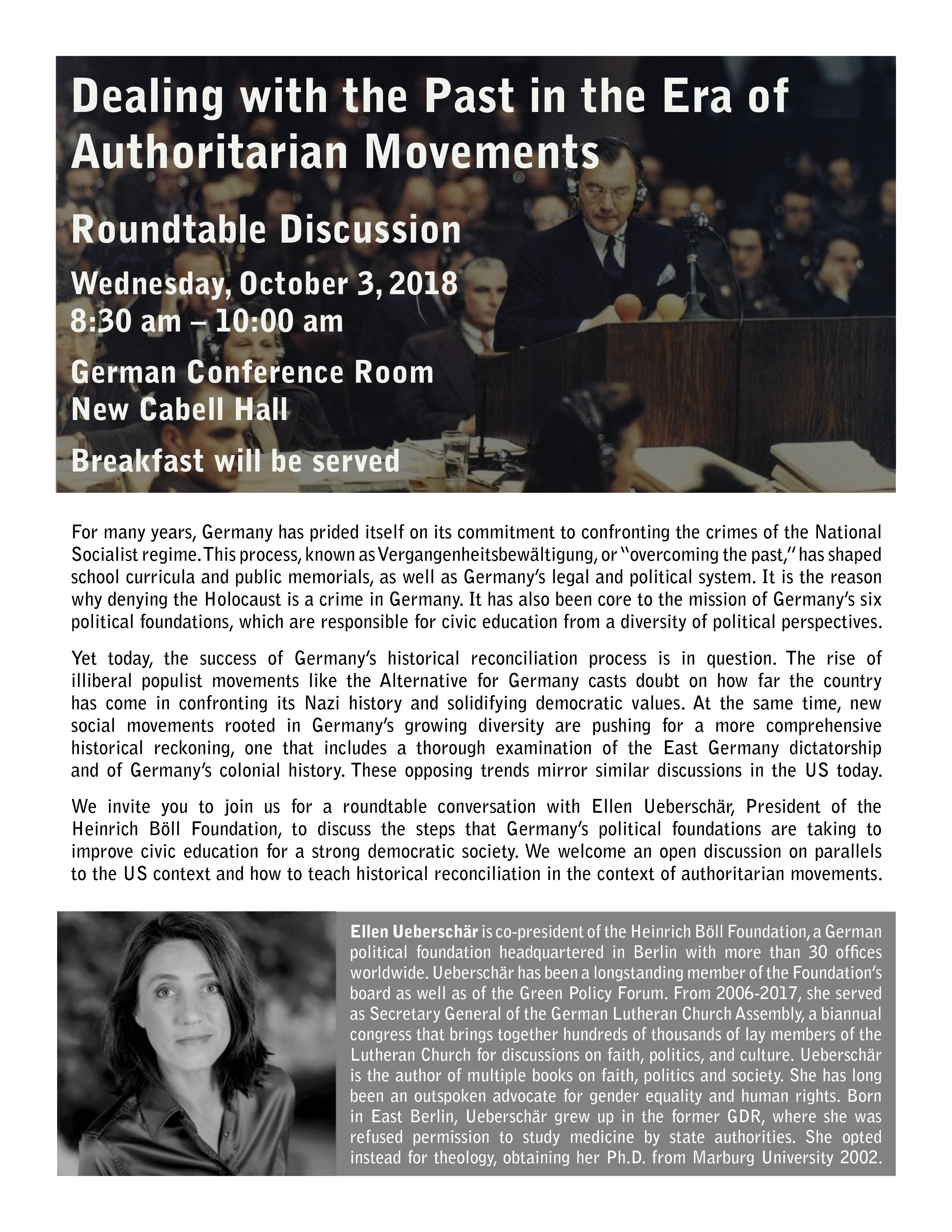 """Dealing with the Past in the Era of Authoritarian Movements"""