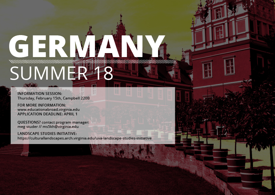 Germany Study Abroad with the UVa Landscape Studies Initiative